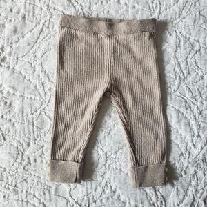 Zara Oatmeal Ribbed Knit Sweater Leggings 6-9m